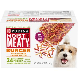 Moist & Meaty Burger with Cheddar Cheese Flavor Dry Dog Food