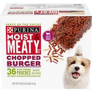 Moist & Meaty Chopped Burger Dry Dog Food
