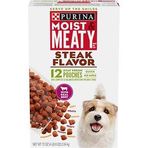 Moist & Meaty Steak Flavor Dry Dog Food