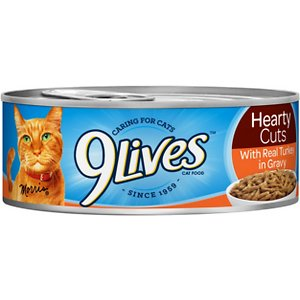 9 Lives Hearty Cuts with Real Turkey in Gravy Canned Cat Food