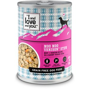 I and Love and You Moo Moo Venison Stew Grain-Free Canned Dog Food
