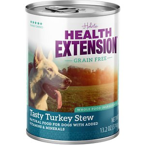 Health Extension Grain-Free Tasty Turkey Stew Canned Dog Food