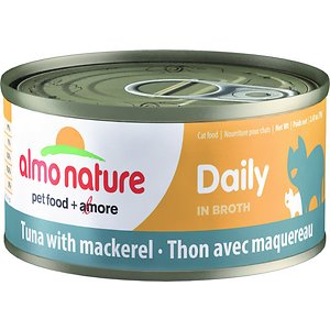 Almo Nature Daily Tuna with Mackerel in Broth Grain-Free Canned Cat Food