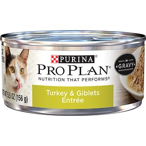 Purina Pro Plan Adult Turkey & Giblets Entree in Gravy Canned Cat Food