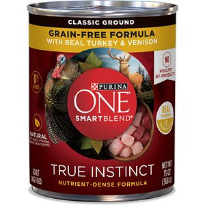 Purina ONE SmartBlend Grain-Free True Instinct Classic Ground with Real Turkey & Venison Canned Dog Food