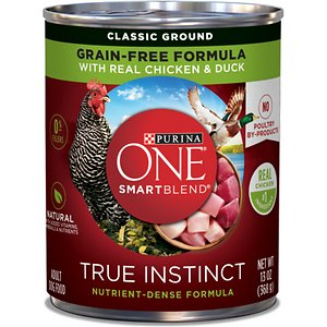 Purina ONE SmartBlend Grain-Free True Instinct Classic Ground with Real Chicken & Duck Canned Dog Food