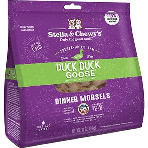 Stella & Chewy's Duck Duck Goose Dinner Morsels Freeze-Dried Raw Cat Food