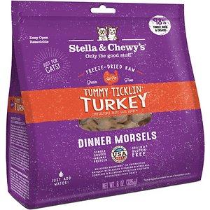 Stella & Chewy's Tummy Ticklin' Turkey Dinner Morsels Freeze-Dried Raw Cat Food