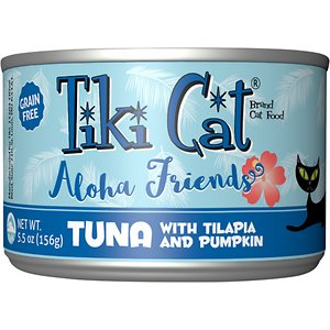 Tiki Cat Aloha Friends Tuna with Tilapia & Pumpkin Grain-Free Wet Cat Food