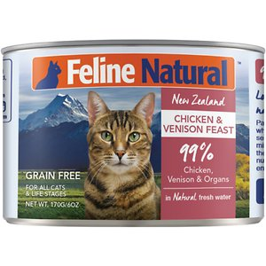 Feline Natural Chicken & Venison Feast Grain-Free Canned Cat Food