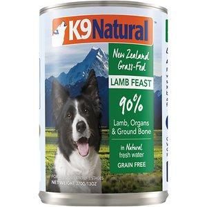 K9 Natural Grass-Fed Lamb Feast Grain-Free Canned Dog Food