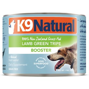 K9 Natural Booster Lamb Green Tripe Grain-Free Canned Dog Food Supplement