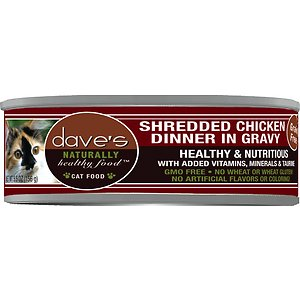 Dave's Pet Food Naturally Healthy Grain-Free Shredded Chicken Dinner in Gravy Canned Cat Food