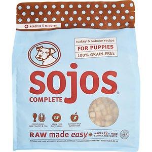 Sojos Complete Turkey & Salmon Puppy Recipe Grain-Free Freeze-Dried Raw Dog Food