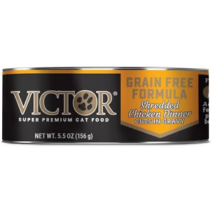 VICTOR Shredded Chicken Dinner Cuts in Gravy Grain-Free Canned Cat Food
