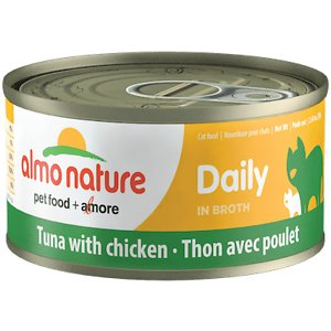 Almo Nature Daily Tuna with Chicken in Broth Grain-Free Canned Cat Food