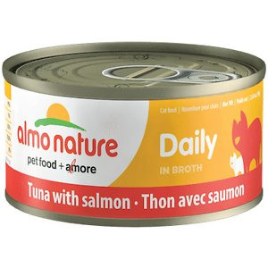 Almo Nature Daily Tuna with Salmon in Broth Grain-Free Canned Cat Food
