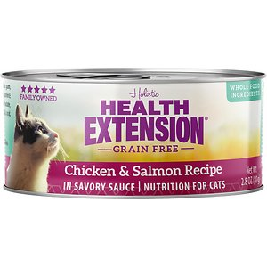 Health Extension Grain-Free Chicken & Salmon Recipe Canned Cat Food