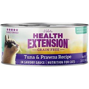 Health Extension Grain-Free Tuna & Prawns Recipe Canned Cat Food
