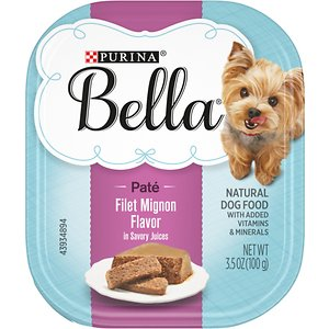 Purina Bella Filet Mignon Flavor in Savory Juices Small Breed Wet Dog Food Trays