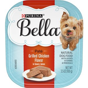 Purina Bella Grilled Chicken Flavor in Savory Juices Small Breed Wet Dog Food Trays