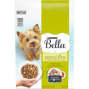 Purina Bella Natural Bites with Real Chicken & Turkey & Accents of Carrots & Green Beans Small Breed Dry Dog Food