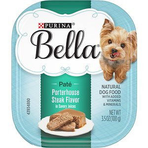 Purina Bella Porterhouse Steak Flavor in Savory Juices Small Breed Wet Dog Food Trays