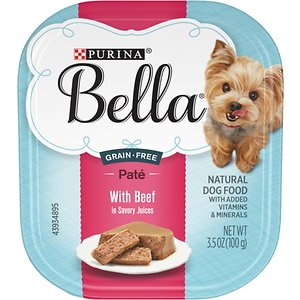 Purina Bella with Beef in Savory Juices Small Breed Wet Dog Food Trays