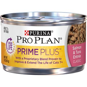 Purina Pro Plan Prime Plus Adult 7+ Salmon & Tuna Entree Classic Canned Cat Food