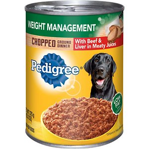 Pedigree Chopped Ground Dinner Weight Management With Beef & Liver Canned Dog Food