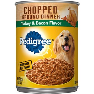 Pedigree Chopped Ground Dinner Turkey & Bacon Canned Dog Food