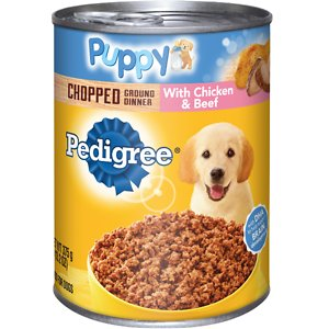 Pedigree Puppy Chopped Ground Dinner With Chicken & Beef Canned Dog Food