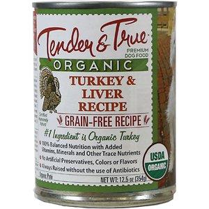 Tender & True Organic Turkey & Liver Recipe Grain-Free Canned Dog Food