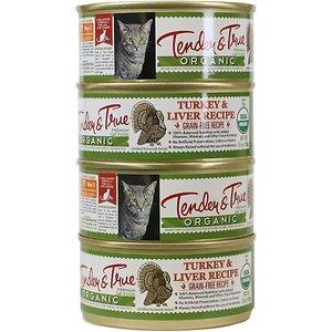 Tender & True Organic Turkey & Liver Recipe Grain- Free Canned Cat Food