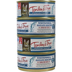 Tender & True Limited Ingredient Ocean Whitefish & Potato Recipe Grain-Free Canned Cat Food