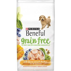 Purina Beneful Grain Free with Real Farm-Raised Chicken Dry Dog Food
