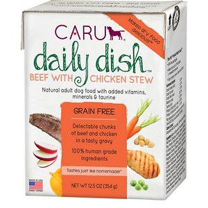 Caru Daily Dish Beef with Chicken Stew Grain-Free Wet Dog Food
