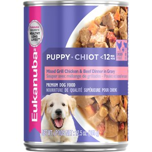 Eukanuba Puppy Mixed Grill Chicken & Beef Dinner in Gravy Formula Canned Dog Food