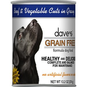Dave's Pet Food Grain-Free Beef & Vegetable Cuts in Gravy Canned Dog Food