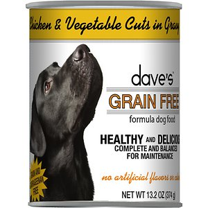 Dave's Pet Food Grain-Free Chicken & Vegetable Cuts in Gravy Canned Dog Food