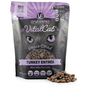 Vital Essentials Turkey Mini Nibs Entree Freeze-Dried Cat Food