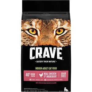 Crave with Protein from Chicken & Salmon Indoor Adult Grain-Free Dry Cat Food