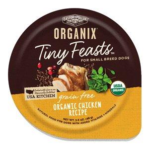 Castor & Pollux Organix Tiny Feasts Grain-Free Organic Chicken Recipe Dog Food Trays