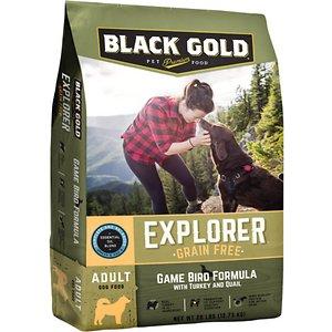 Black Gold Explorer Game Bird Formula with Turkey & Quail Grain-Free Dry Dog Food