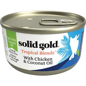 Solid Gold Tropical Blendz with Chicken & Coconut Oil Pate Grain-Free Canned Cat Food