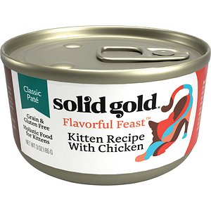 Solid Gold Flavorful Feast Kitten Recipe with Chicken Pate Grain-Free Canned Cat Food