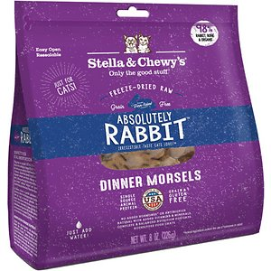 Stella & Chewy's Absolutely Rabbit Dinner Morsels Freeze-Dried Raw Cat Food
