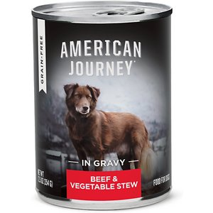 American Journey Stews Beef & Vegetables Recipe in Gravy Grain-Free Canned Dog Food