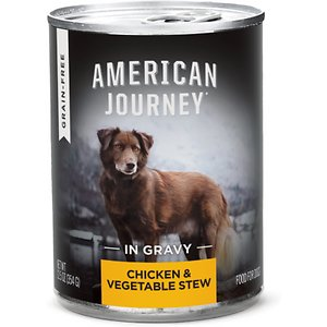American Journey Stews Chicken & Vegetables Recipe in Gravy Grain-Free Canned Dog Food