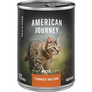 American Journey Pate Turkey Recipe Grain-Free Canned Cat Food